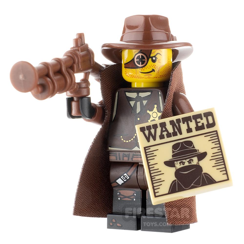 Custom Minifigure Steampunk Western Bounty Hunter