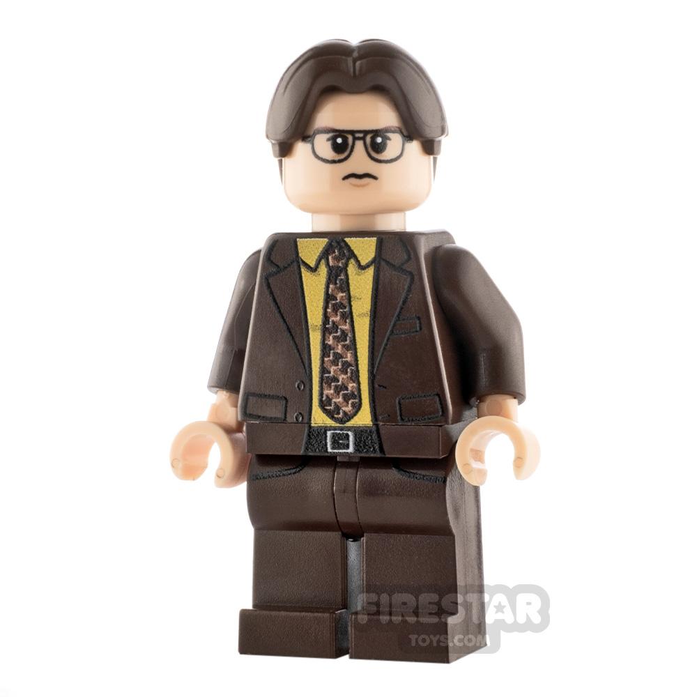 Custom Minifigure Office Worker Dwight