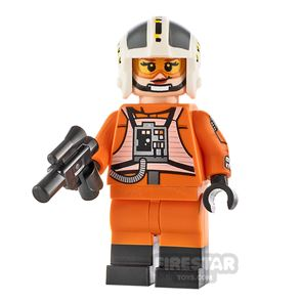 Custom Minifigure SW Female Rebel Pilot