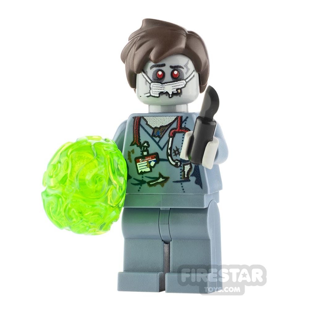 Custom Minifigure Zombie Brain Surgeon