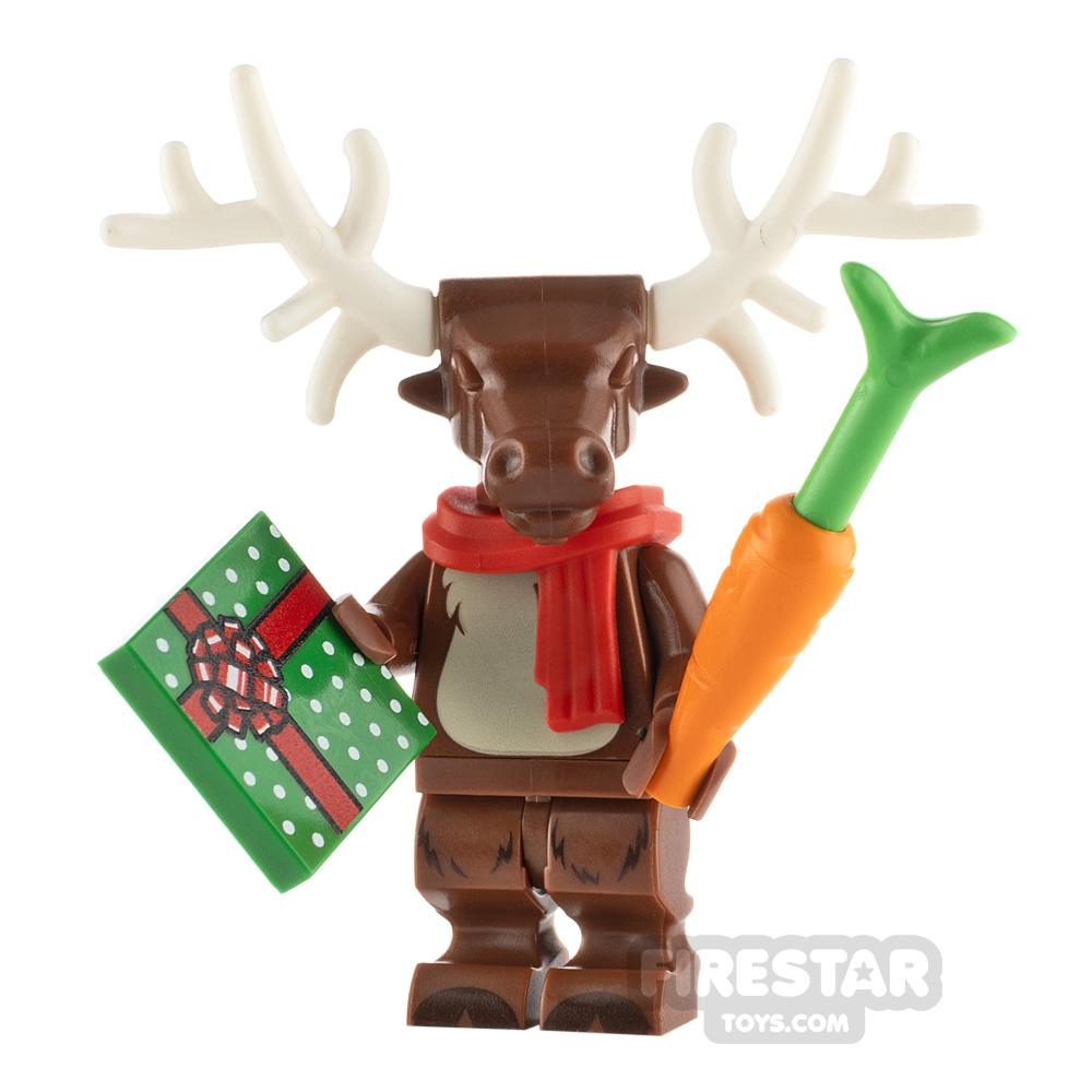 Custom Minifigure Christmas Reindeer