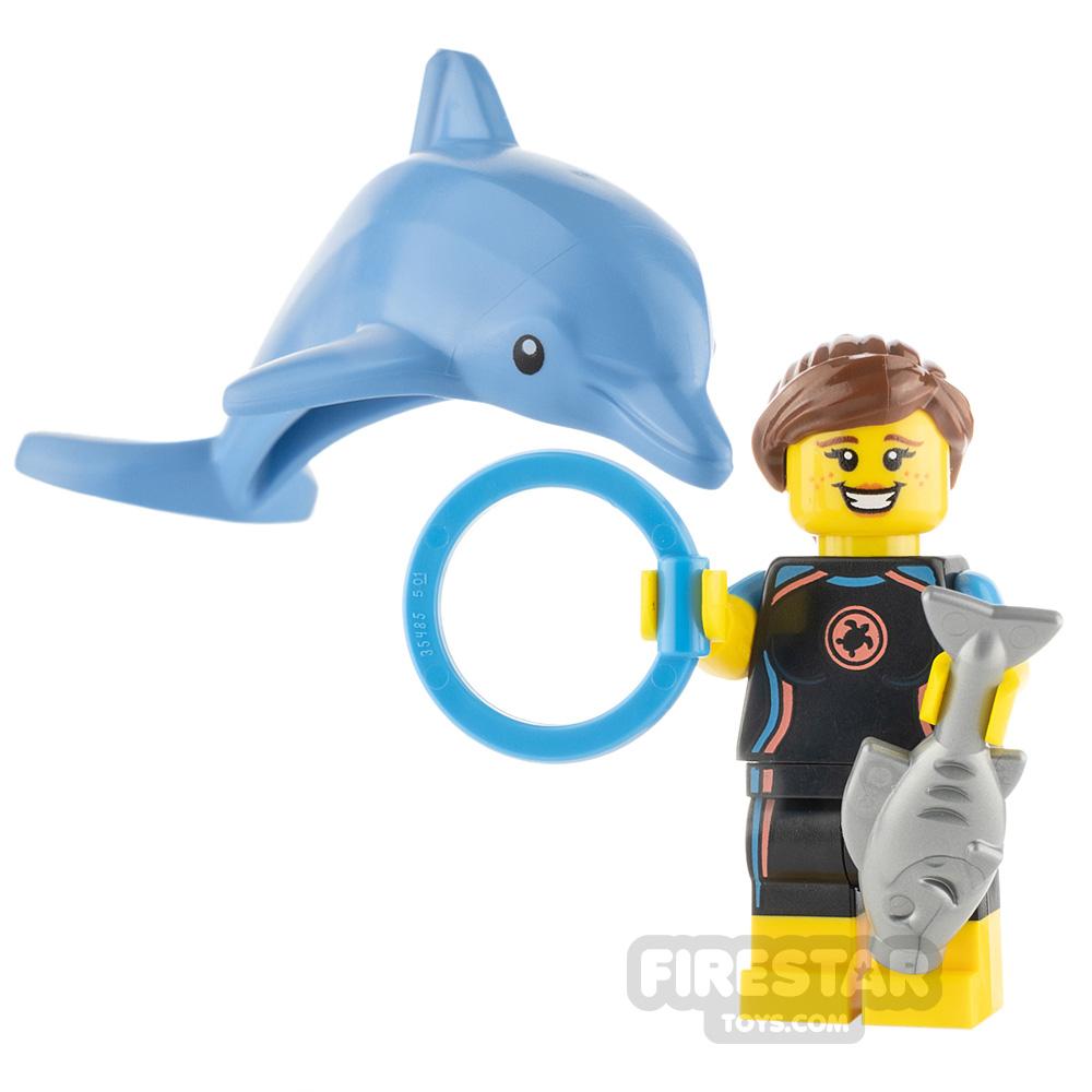 Custom Minifigure Dolphin Trainer