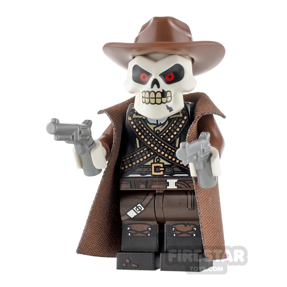 Custom Minifigure Skeleton Gunslinger