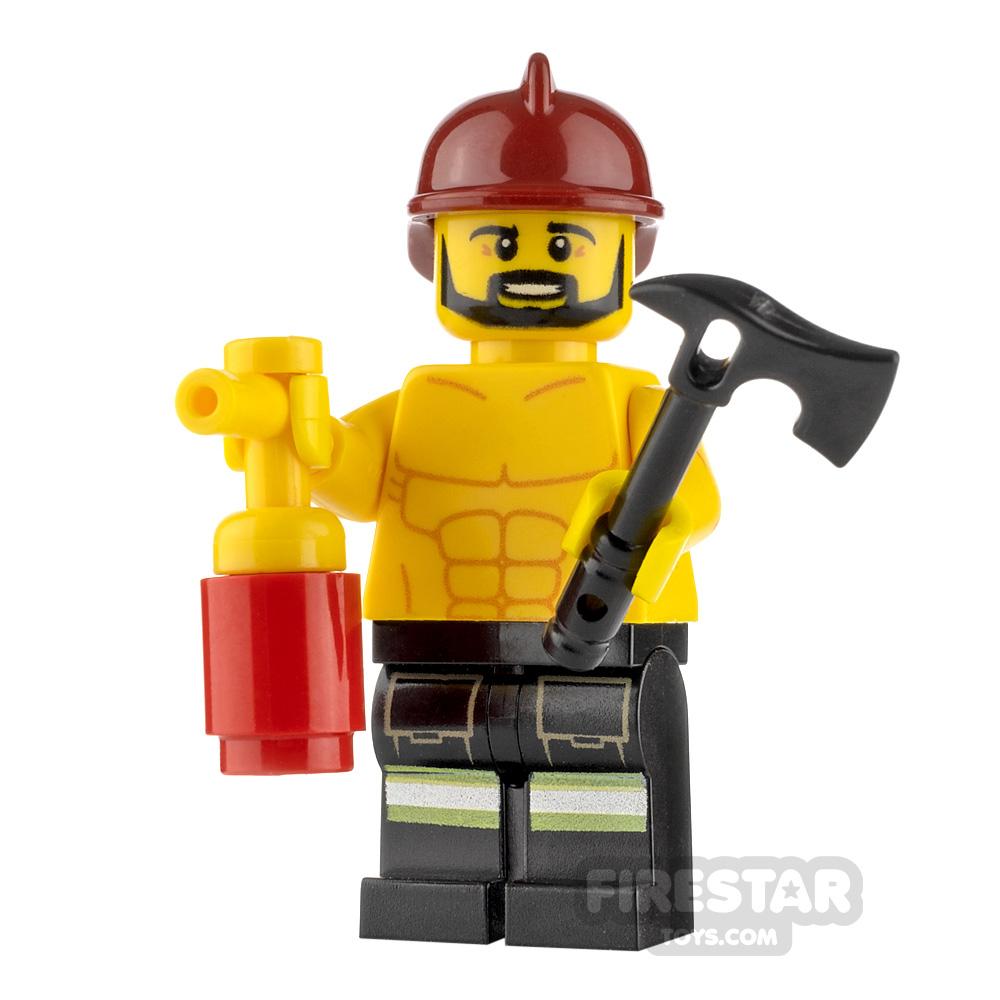 Custom Minifigure Sexy Fireman