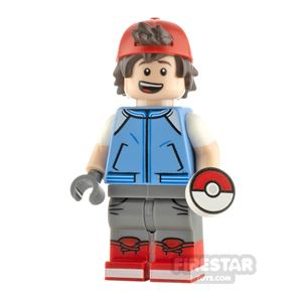 Custom Minifigure Pokemon Ash