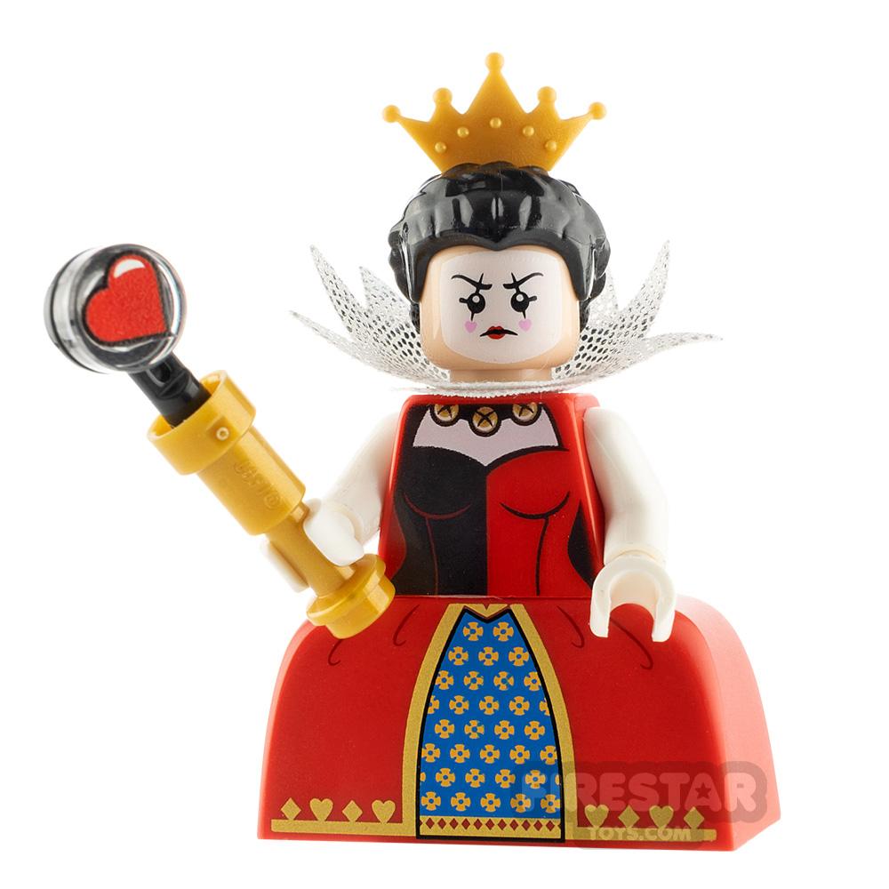 Custom Minifigure Alice in Wonderland Queen Of Hearts