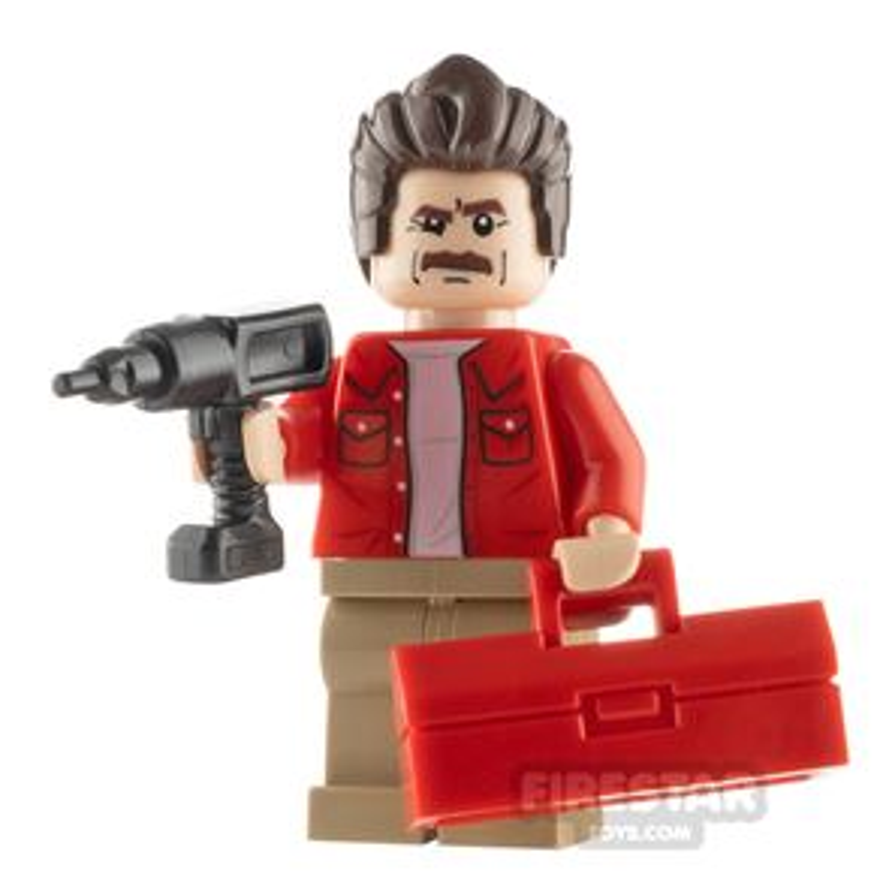 Custom Minifigure Handyman Ron Swanson