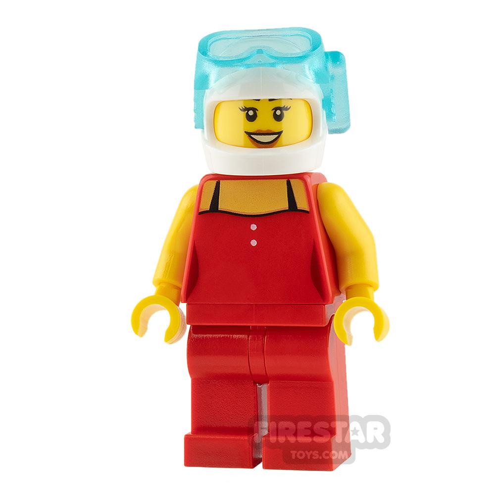 LEGO City Mini Figure - Red Top and Scuba Mask