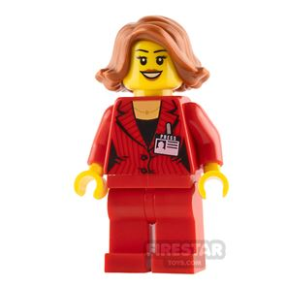 LEGO City Mini Figure - Press Woman / Reporter