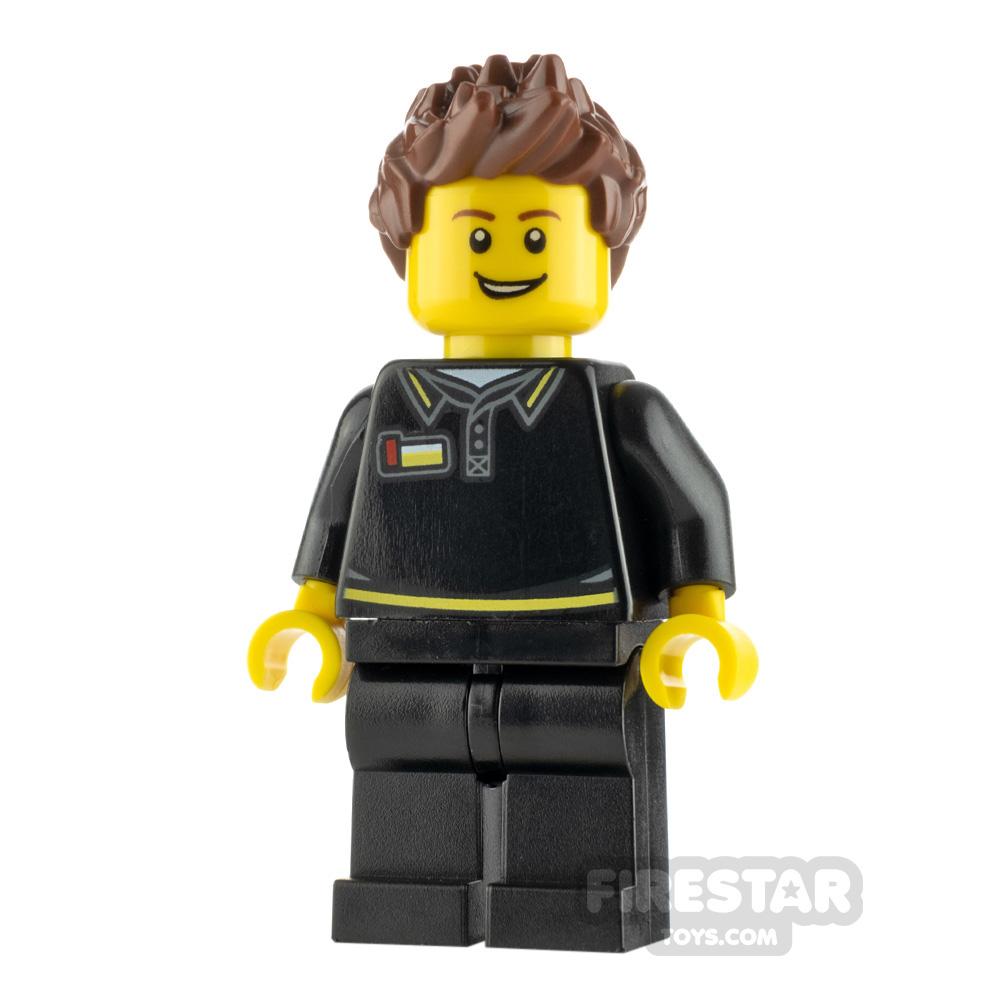 LEGO City Minifigure Lego Store Employee Black Shirt