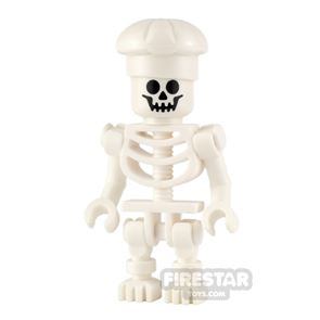LEGO City Minifigure Skeleton with Chefs Hat