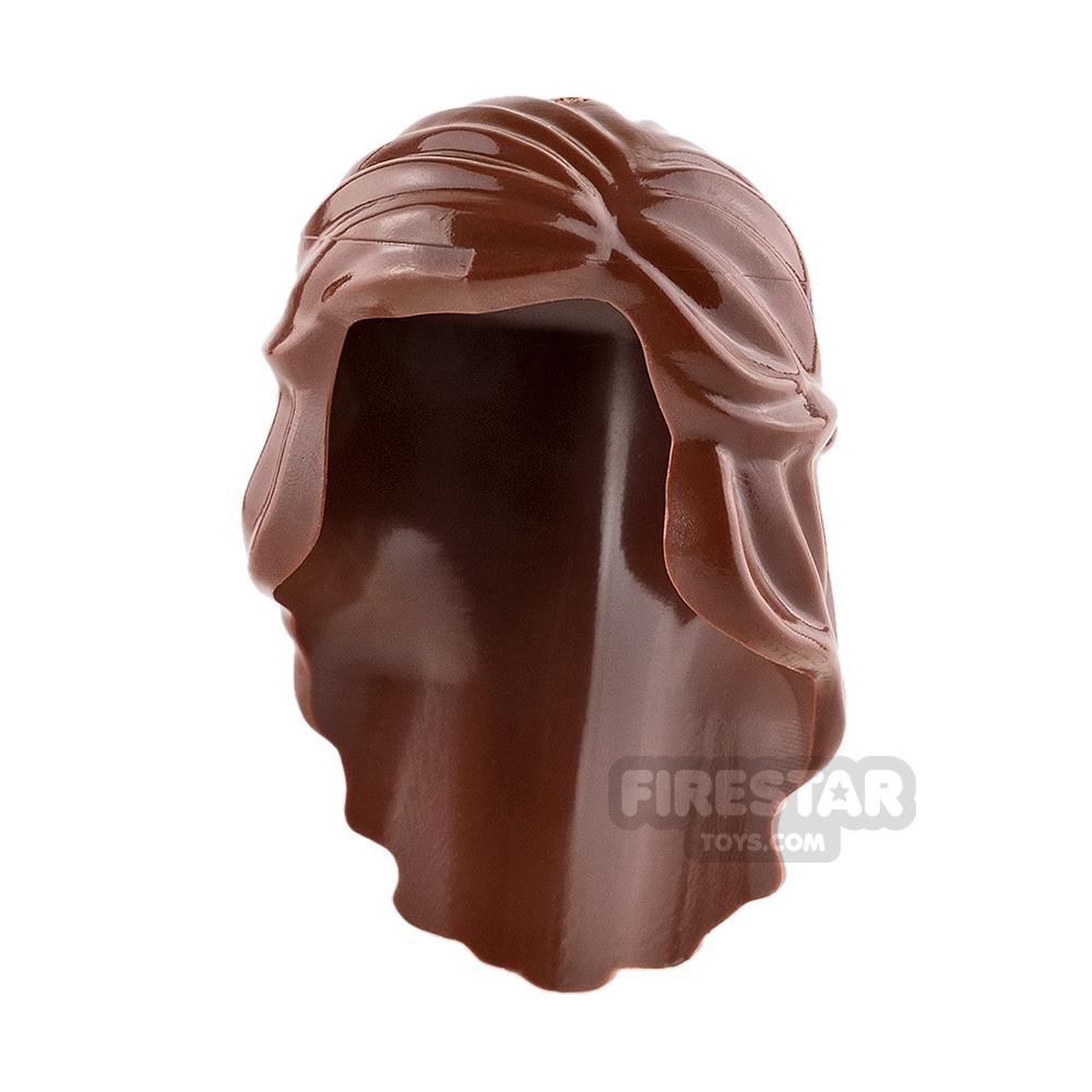 LEGO Hair - Long with Braid - Reddish Brown