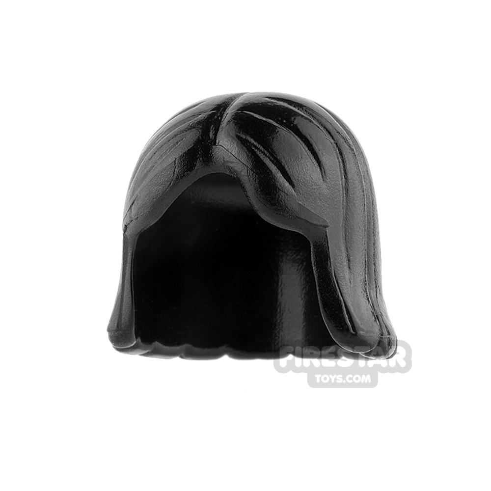 LEGO Hair - Center Parting - Black