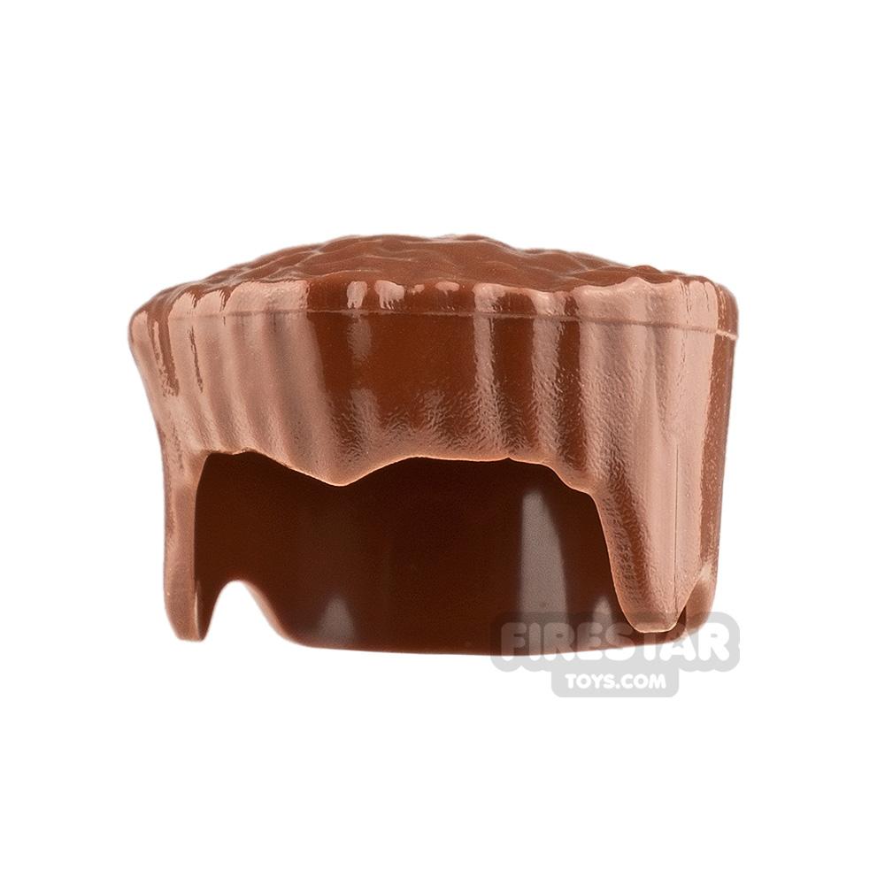 LEGO Hair - Flat Top - Reddish Brown