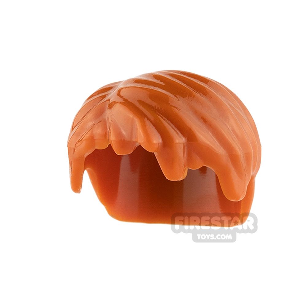 LEGO Hair - Short Tousled - Dark Orange