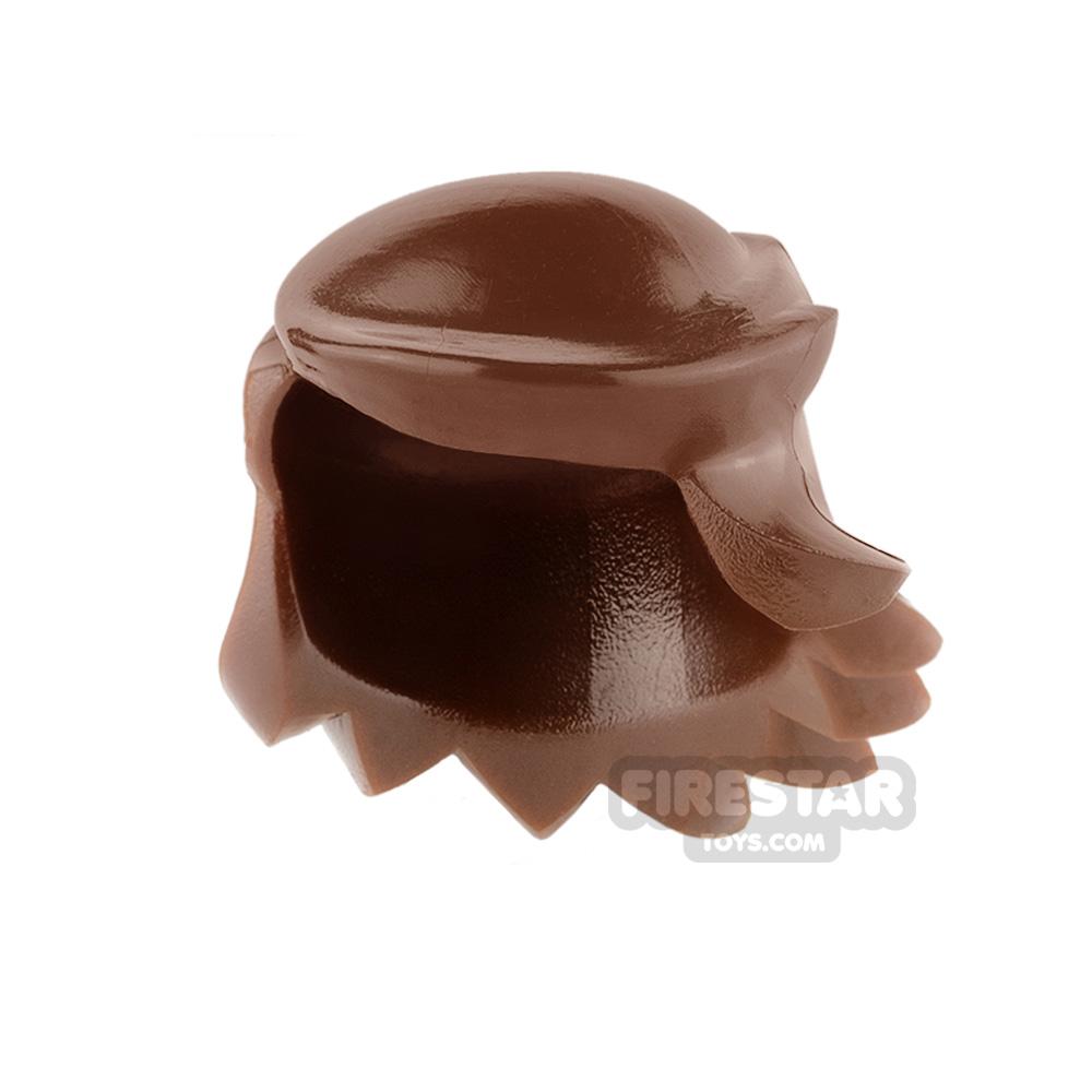 Arealight Mini Figure Hair - Breezy Hair - Reddish Brown