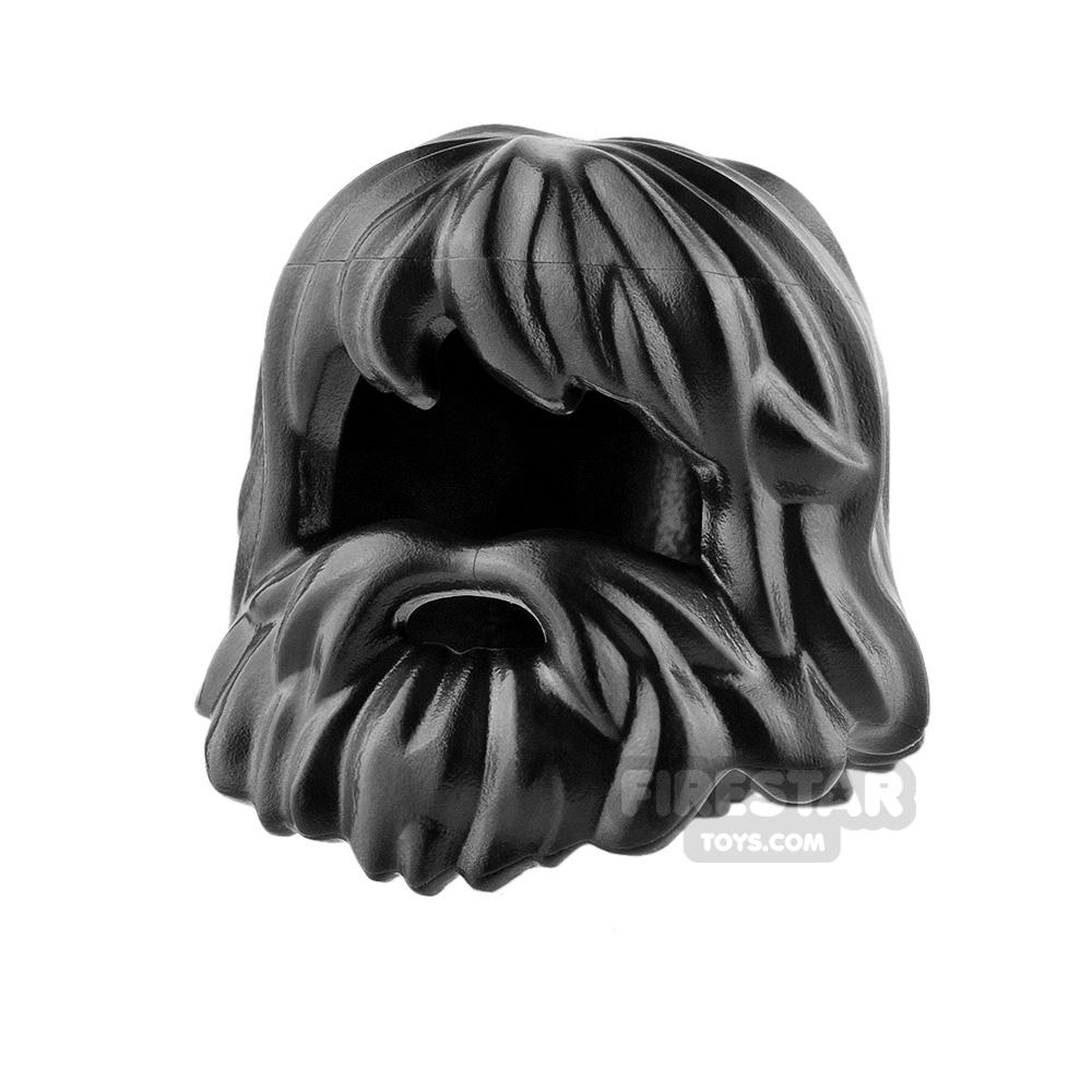 LEGO Hair - Caveman Hair - Black