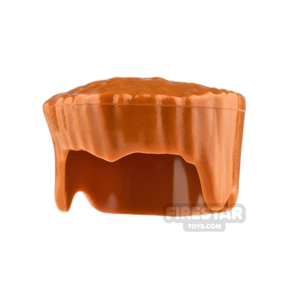LEGO Hair - Flat Top Hair - Dark Orange