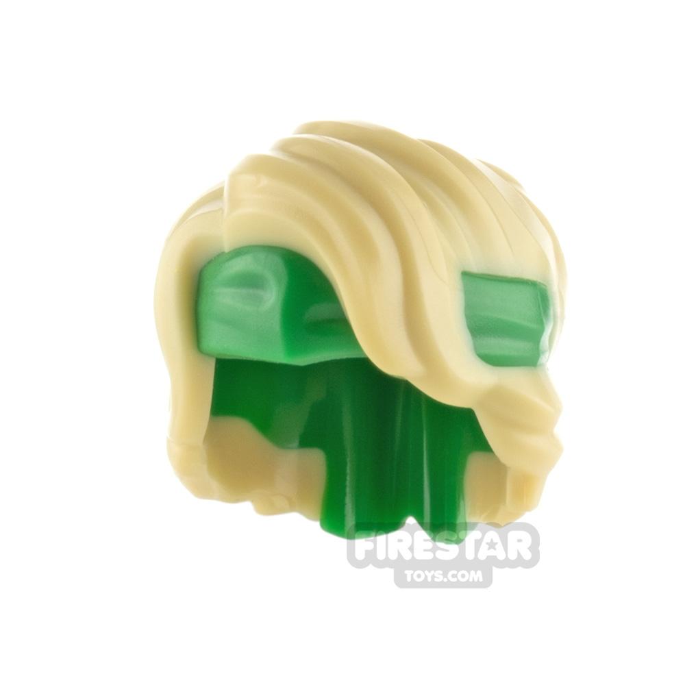 LEGO Hair Swept Back Tousled with Bandana