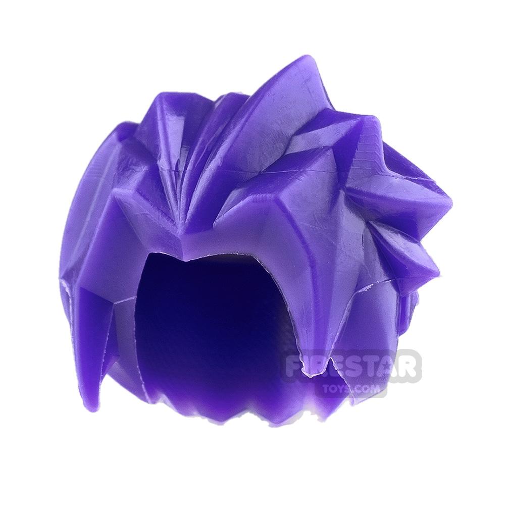 LEGO Hair - Spiked - Purple