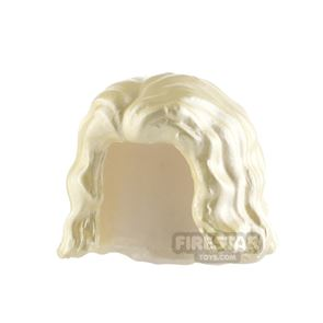 Minifigure Hair Wavy with Centre Parting