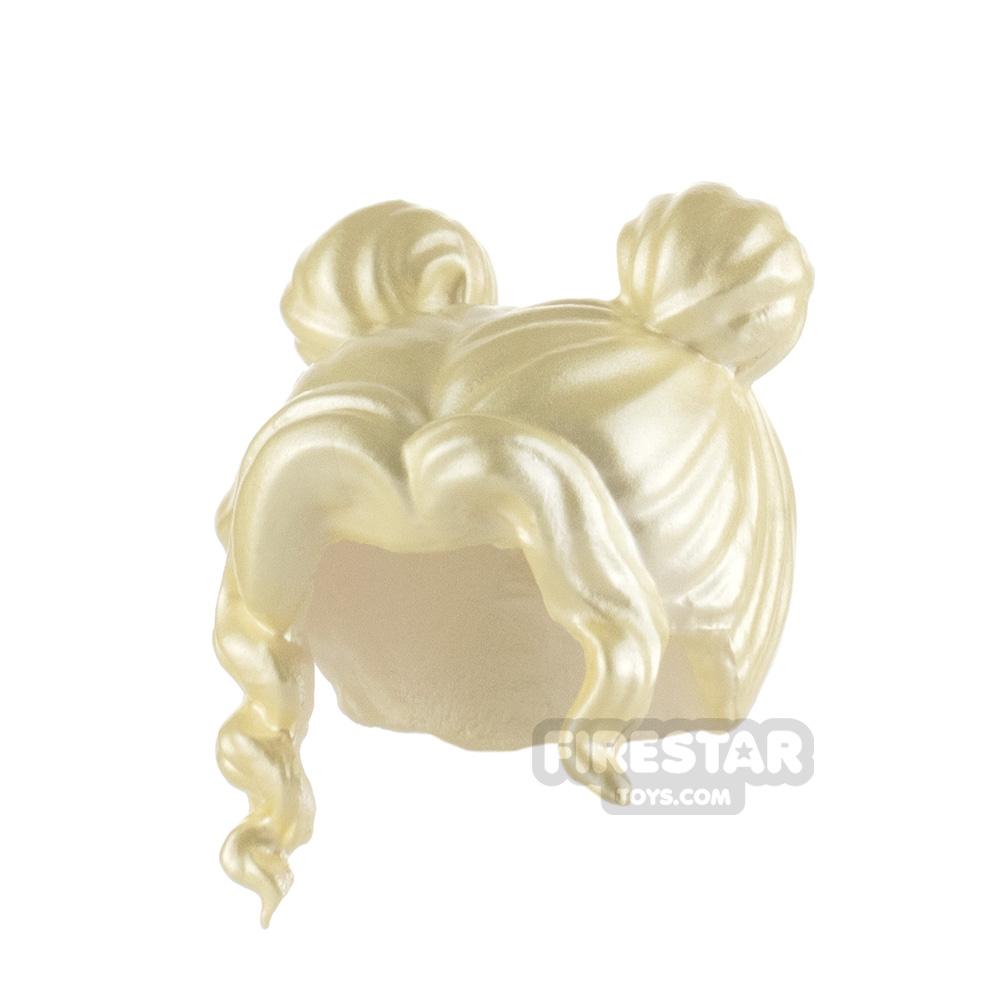 Minifigure Hair Short Bangs with Buns