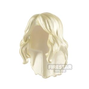 Minifigure Hair Wavy with Twisted Bangs