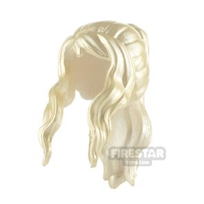 Minifigure Hair Long Bangs with Ponytail