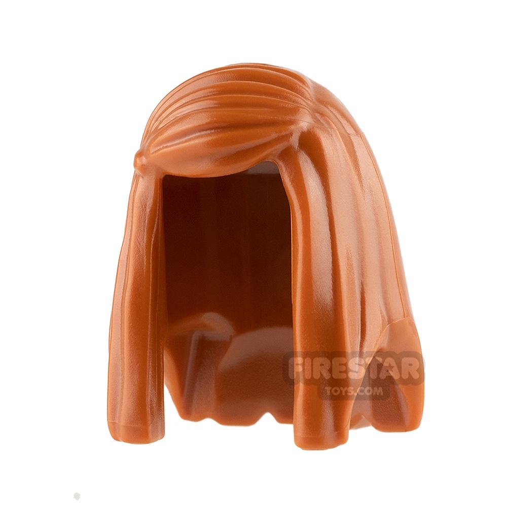LEGO Hair - Long Straight Hair - Dark Orange