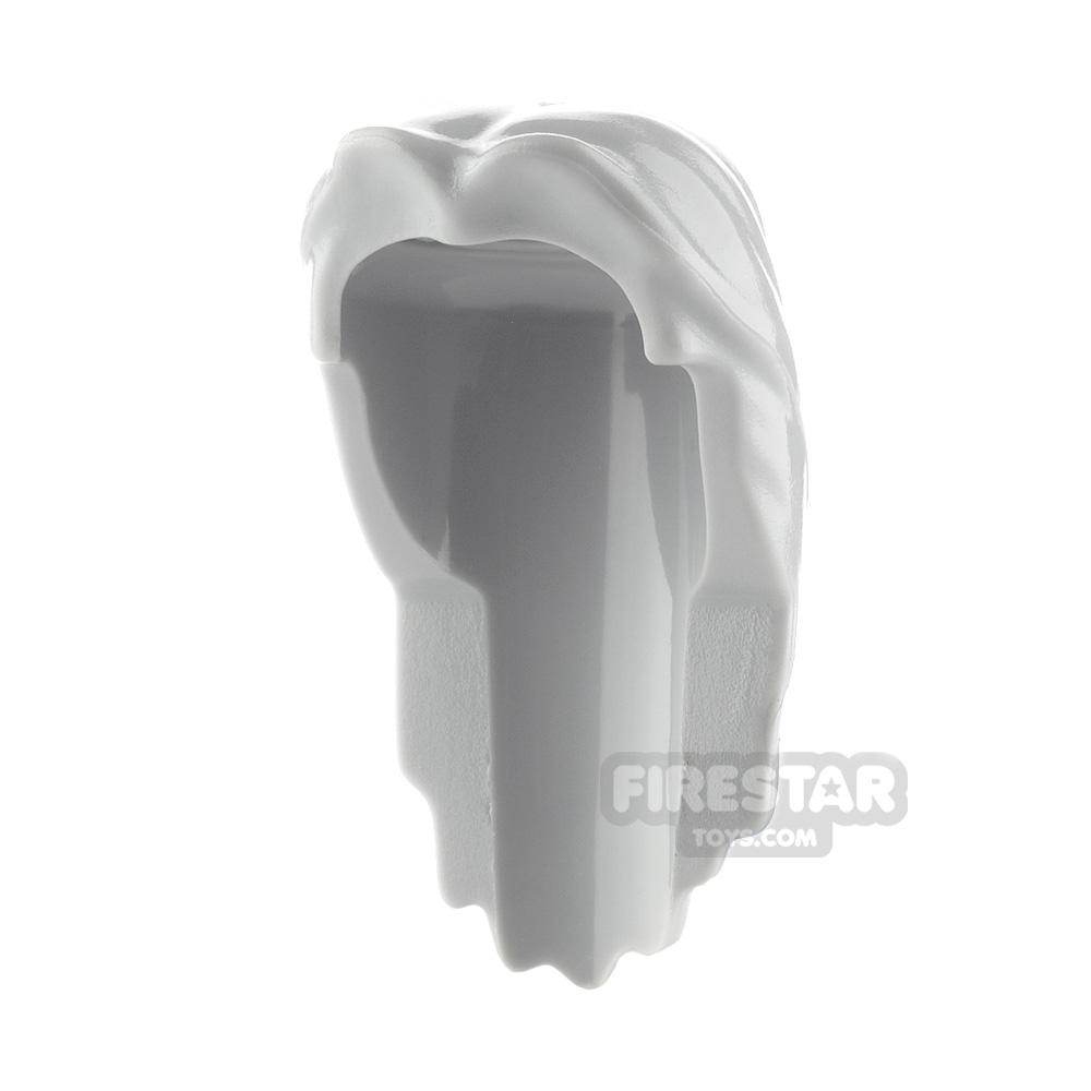 LEGO Hair - Long Hair - Light Gray