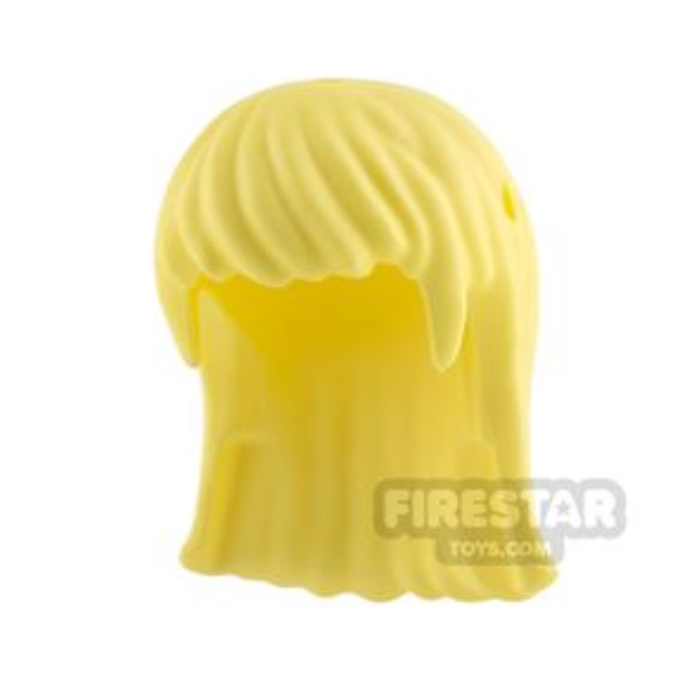 LEGO Hair - Long Straight - Bright Light Yellow