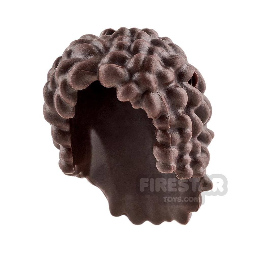 LEGO Hair - Curly - Dark Brown