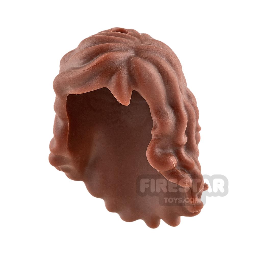 LEGO Hair - Long Wavy - Reddish Brown