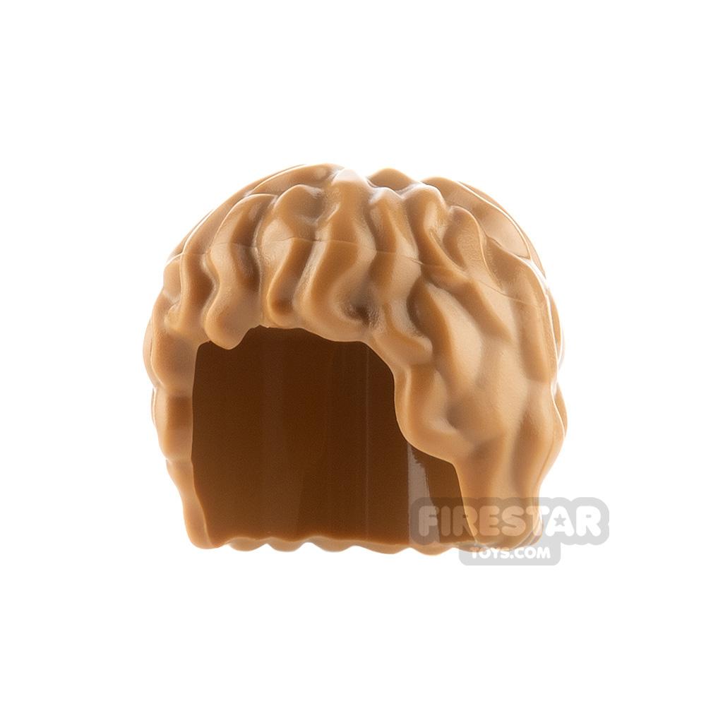 LEGO Hair - Mid Length Tousled - Medium Dark Flesh