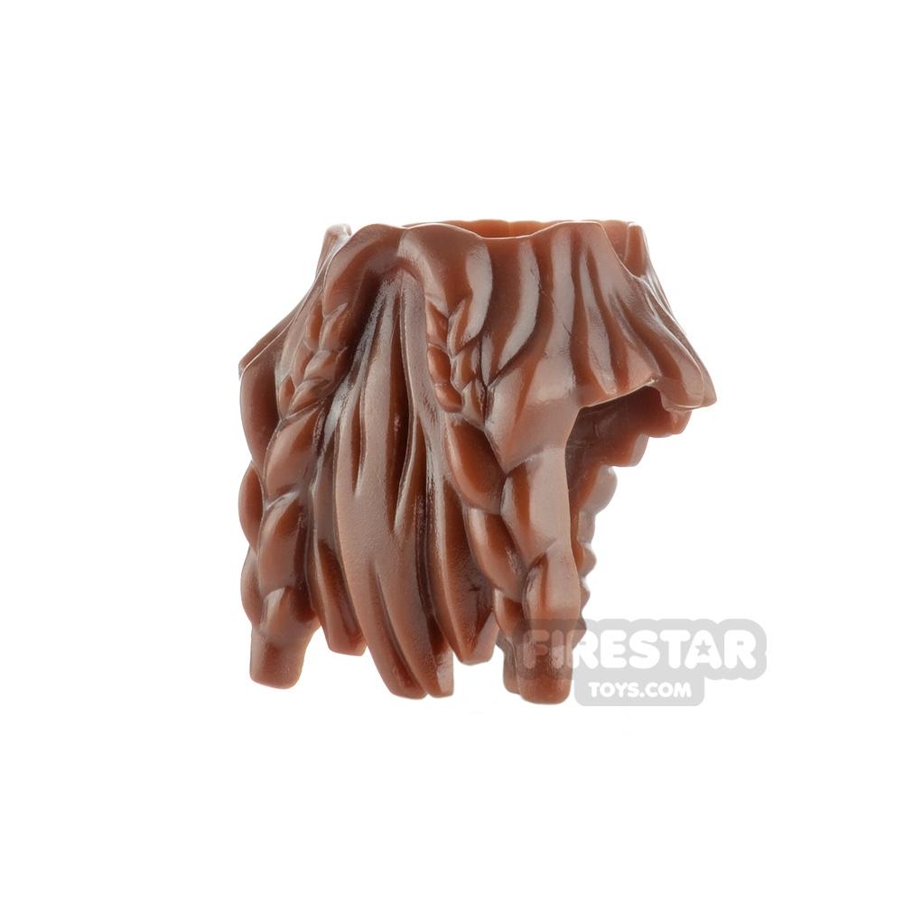 LEGO Hair - Beard - Reddish Brown