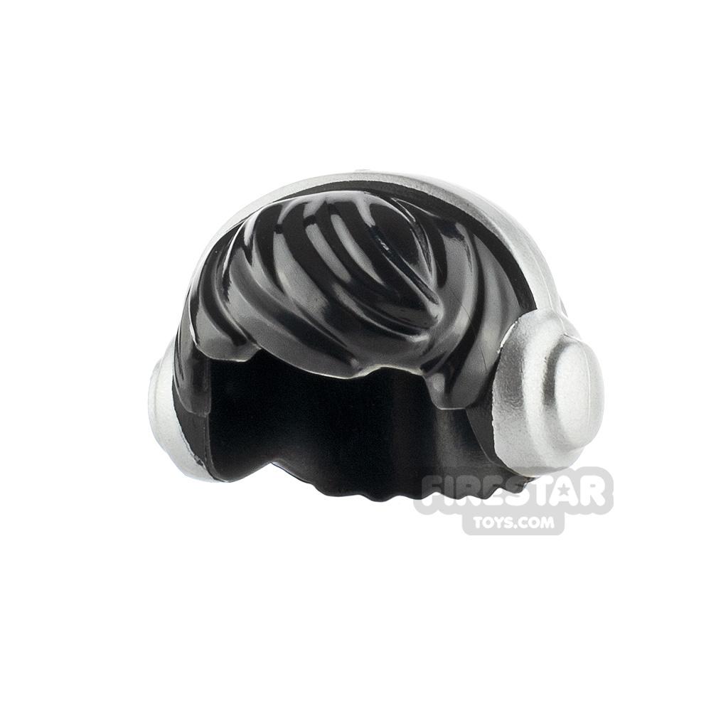 LEGO Hair - Choppy with Headphones - Black