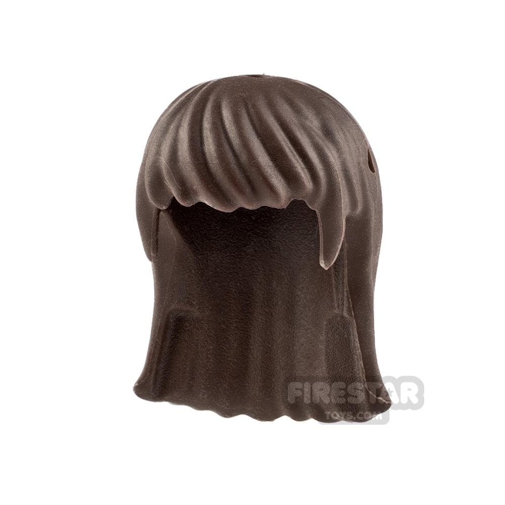 LEGO Hair - Long Straight - Dark Brown