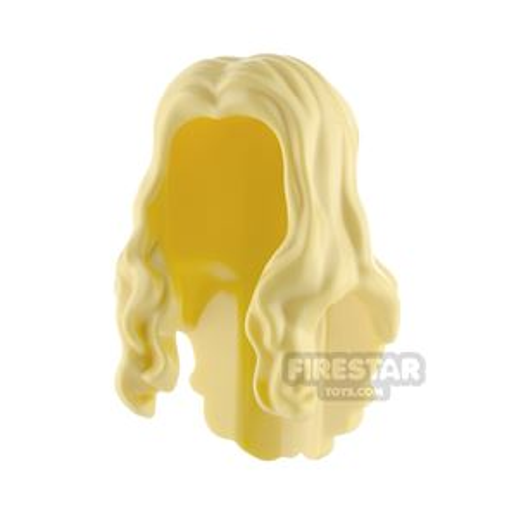 LEGO Hair - Long Wavy - Bright Light Yellow