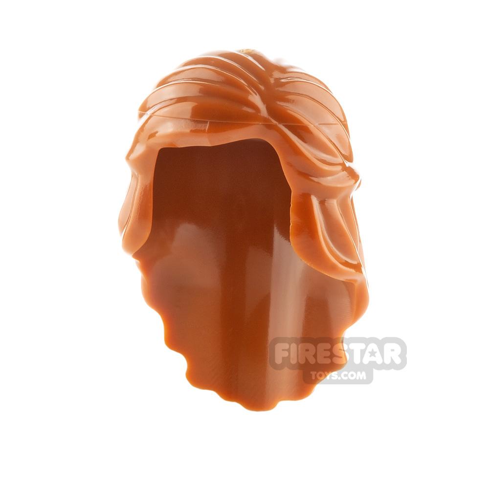 LEGO Hair - Long with Braid - Dark Orange