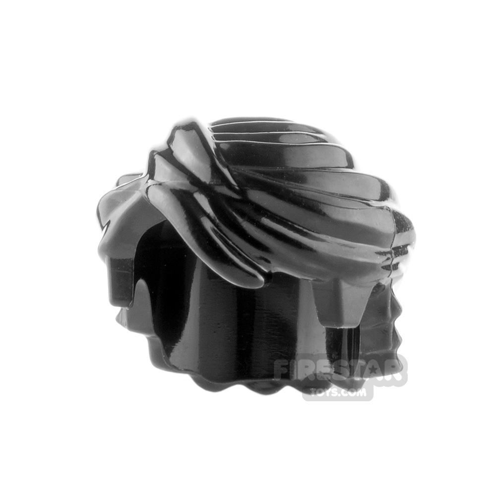 LEGO Hair - Mid Length Swept Back - Black