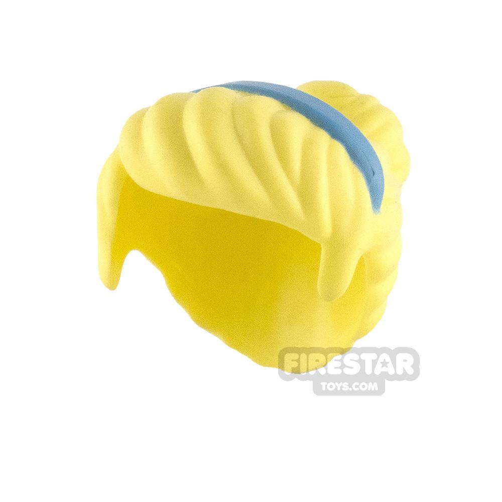 LEGO Hair - Top Bun with Hairband - Bright Light Yellow