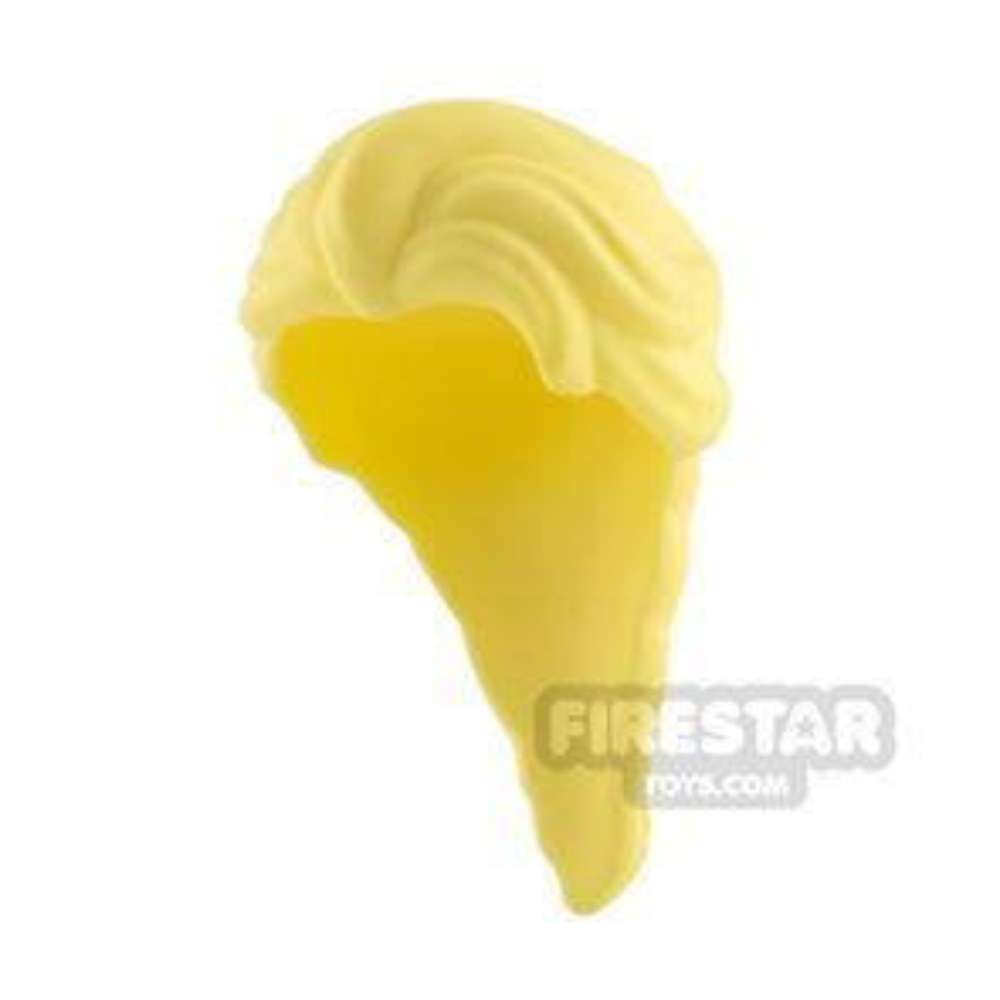 LEGO Hair - Long French Braid - Bright Light Yellow