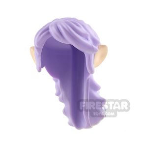 LEGO Hair - Long Ponytail with Elf Ears - Lavender