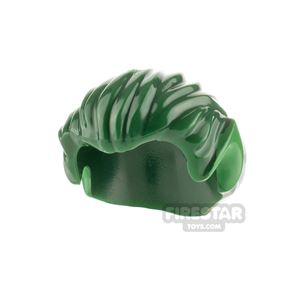 LEGO Hair - Short With Pointy Ears - Green