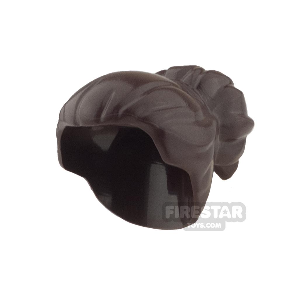 LEGO Hair - Large High Bun - Dark Brown