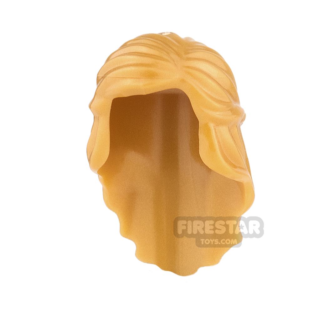 LEGO Hair - Long with Braid - Pearl Gold