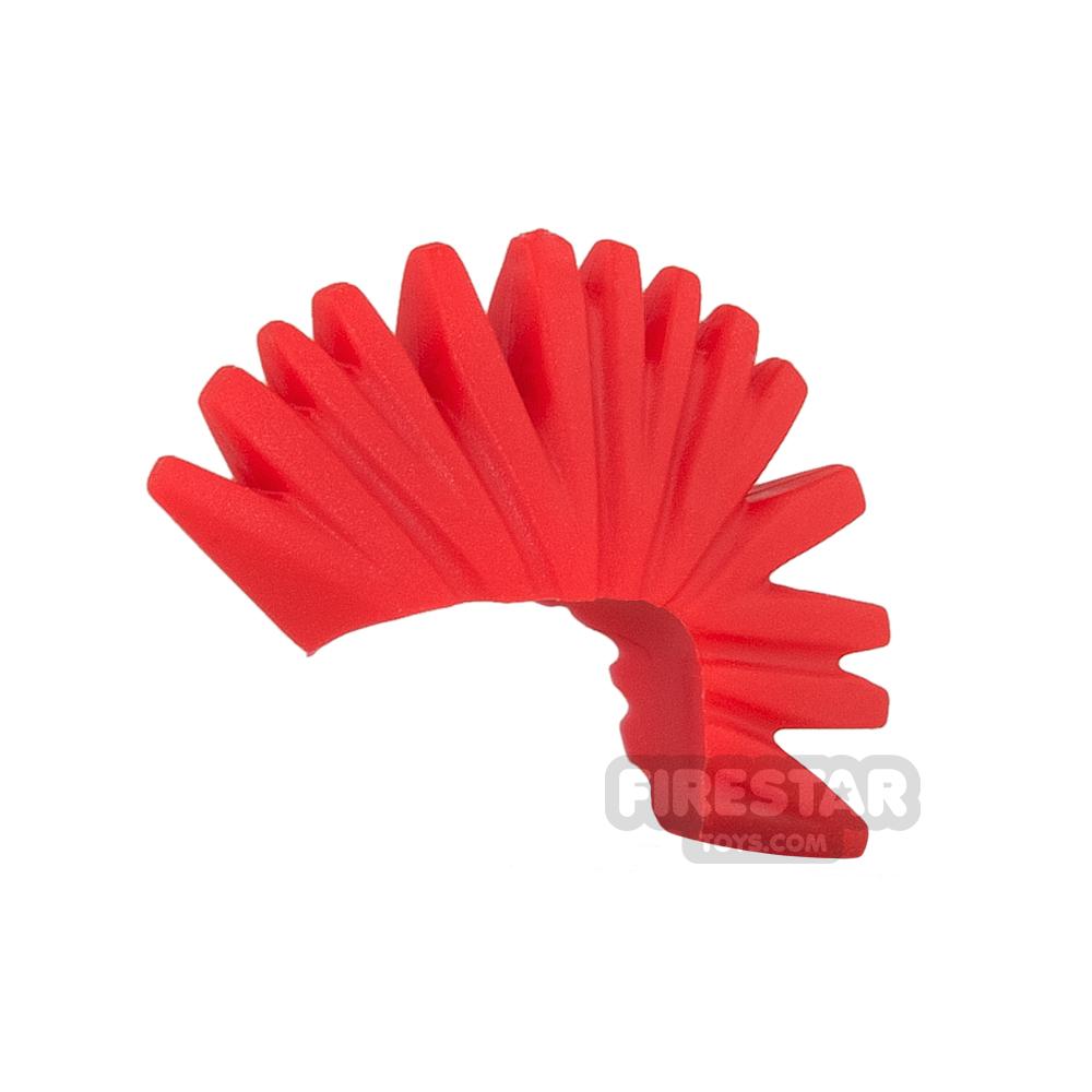 LEGO Hair - Mohawk - Red