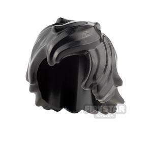 LEGO Hair - Tousled with Long Bangs - Black