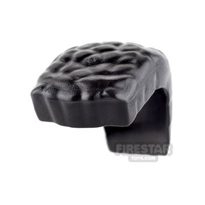 LEGO Hair - Wide Mohawk with Coiled Texture - Black