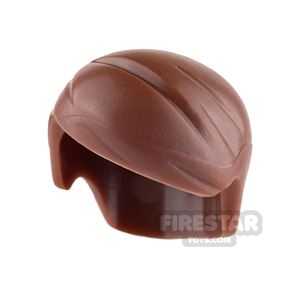 LEGO Hair - Short with Side Parting - Reddish Brown
